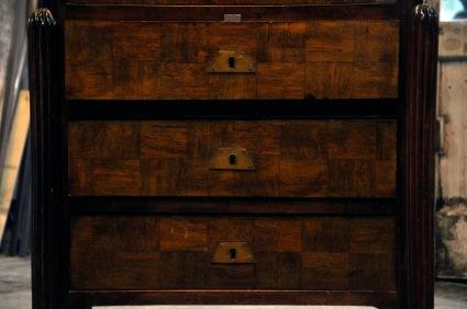 detail de la facade des tiroirs